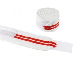 Бинты коленные белые с красным 2м