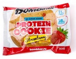 Протеиновое печенье Bombbar 60гр Клубника
