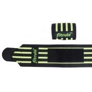 Бинты кистевые FitRule черно-зеленые MEDIUM (пара), 50 см