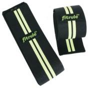 Бинты коленные FitRule черно-зеленый HARD, 2 метра
