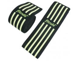 Бинты коленные FitRule черно-зеленый MEDIUM, 2 метра