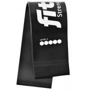 Фитнес-резинка для ног FitRule (Черный 12 кг)