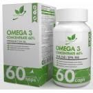 NaturalSupp Omega-3 (концентрат 60%) 60 капс